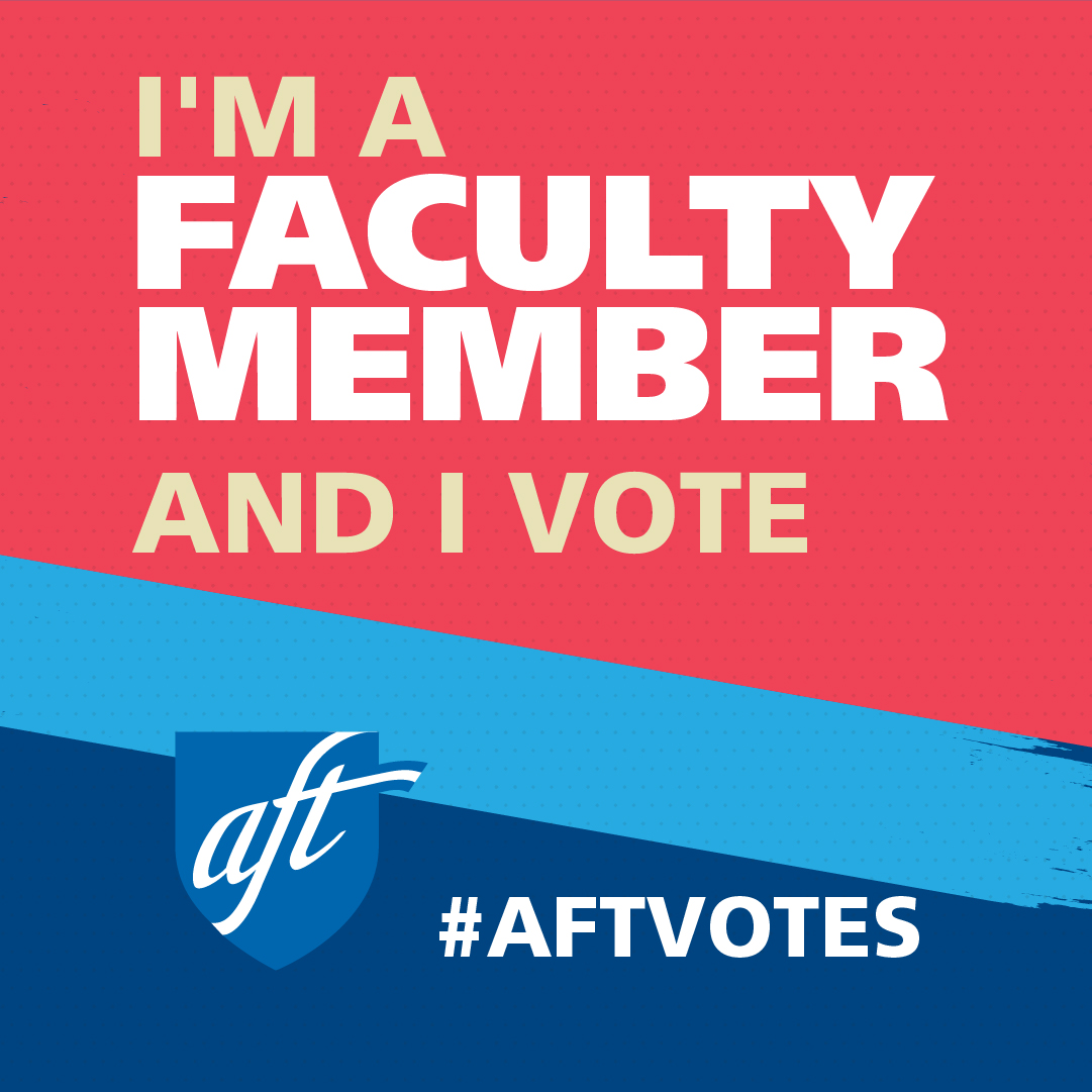 I'm a Faculty Member and I Vote