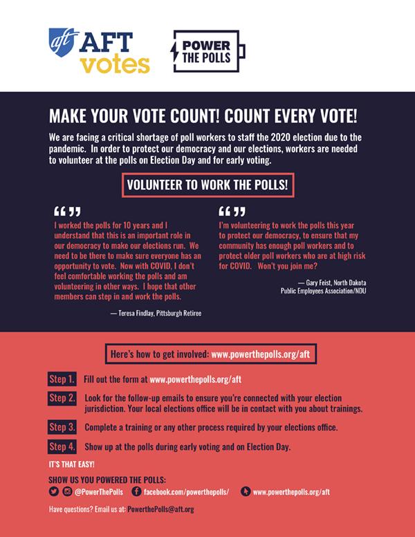 Flyer - Power the Polls