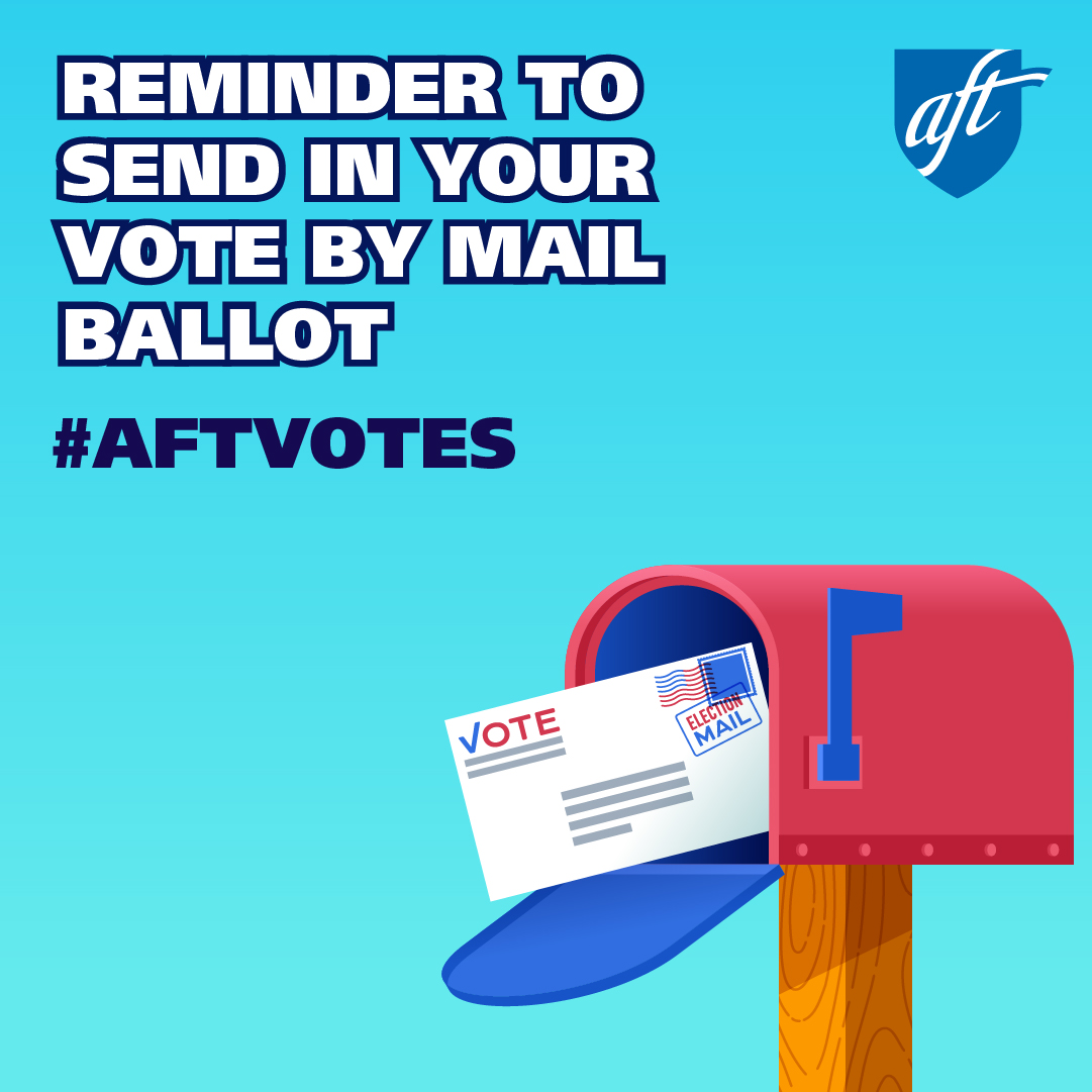 Reminder to Send in Your Vote by Main Ballot