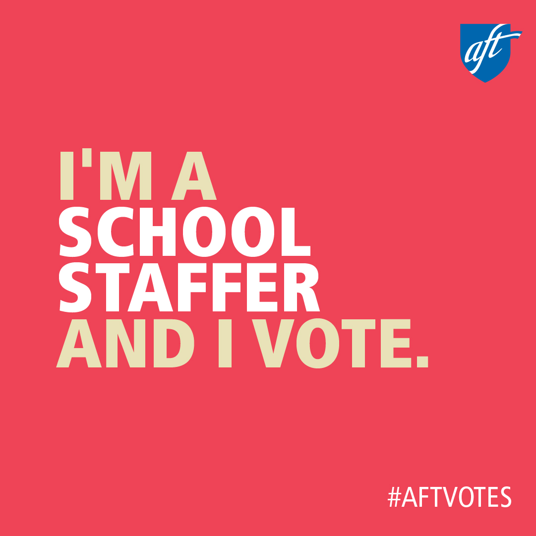 I'm a School Staffer and I Vote